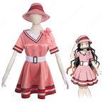 竈門禰豆子 (かまどねずこ) ドレス ステージ服 『鬼滅の刃・鬼滅の宴』の登場人物の仮装 コスチューム