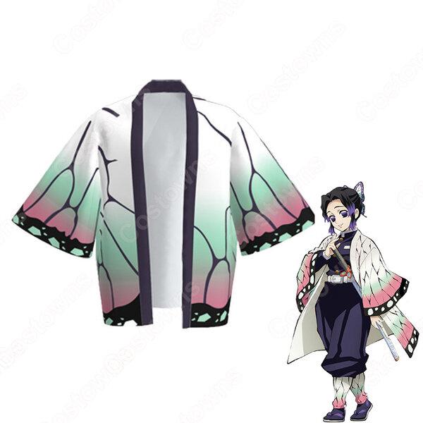 胡蝶しのぶ (こちょうしのぶ) 羽織 フリーサイズ、大人用、子供用 3サイズ コスプレ衣装 『鬼滅の刃』の登場人物の仮装 コスチューム元の画像