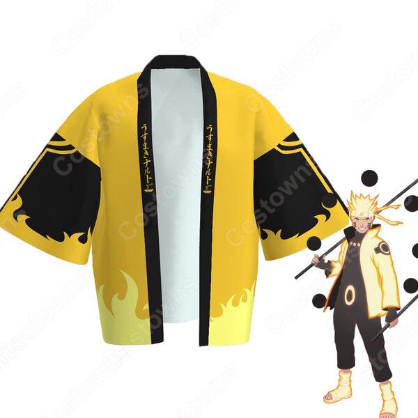 うずまきナルト (うずまきなると) 六道仙人モード 羽織 着物 マント コスプレ衣装 『NARUTO -ナルト-』の登場人物の仮装 コスチューム元の画像