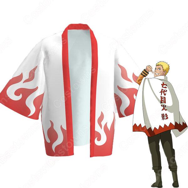 七代目火影 (ななだいめほかげ) 羽織 着物 マント コスプレ衣装 『NARUTO -ナルト-』の登場人物の仮装 コスチューム元の画像