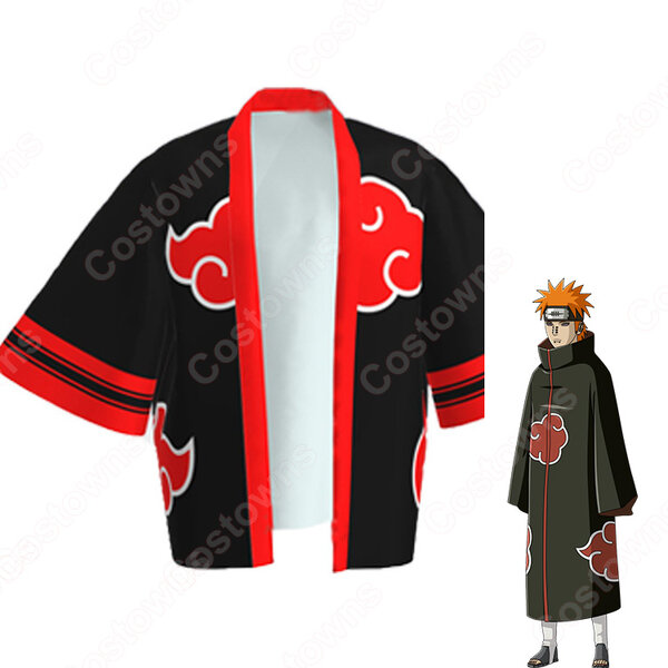暁(あかつき) 羽織 着物 マント コスプレ衣装 『NARUTO -ナルト-』の登場人物の仮装 コスチューム元の画像