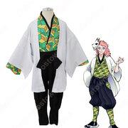 錆兎 (さびと) 子供用 コスプレ衣装 『鬼滅の刃』の登場人物の変装 仮装 コスチューム