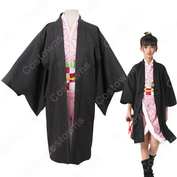 竈門禰豆子 (かまどねずこ) 子供用 コスプレ衣装 『鬼滅の刃』の登場人物の変装 仮装 コスチューム元の画像