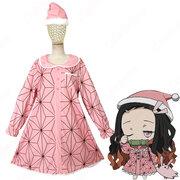 竈門禰豆子 (かまどねずこ) パジャマ コスプレ衣装 『鬼滅の刃』の登場人物の仮装 コスチューム