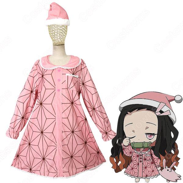 竈門禰豆子 (かまどねずこ) パジャマ コスプレ衣装 『鬼滅の刃』の登場人物の仮装 コスチューム元の画像