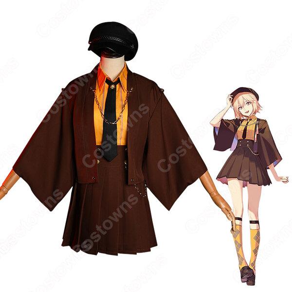 『Fate/Grand Order』沖田 総司(おきた そうじ)コスプレ衣装 レディース 日常服 新品 学園風 コスチューム変装元の画像