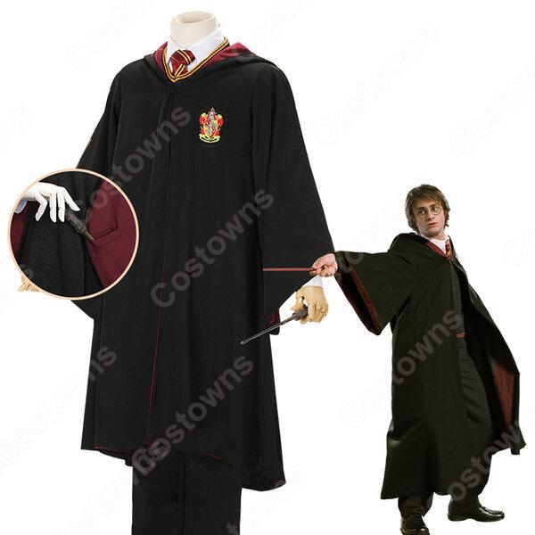 ホグワーツ魔法魔術学校 ローブ スリザリン グリフィンドール レイブンクロー ハッフルパフ コスプレ衣装 『ハリーポッター』变装 コスチューム元の画像