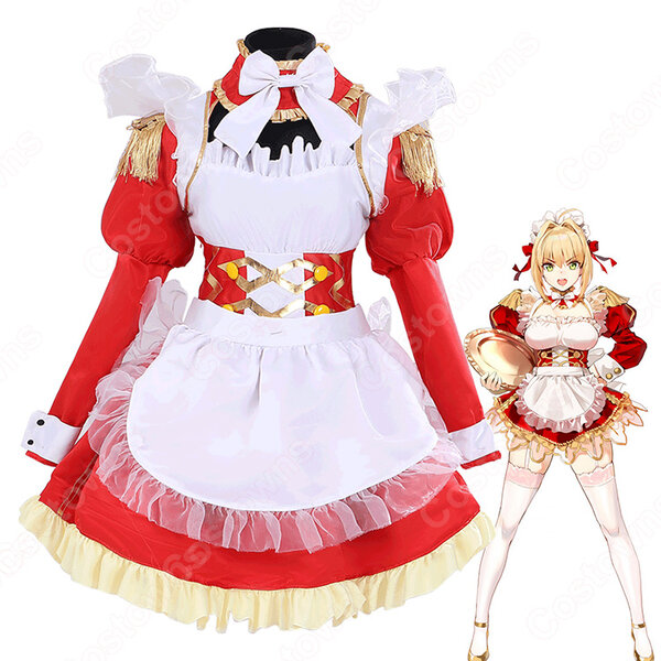 ネロ メイド服 コスプレ衣装 『Fate Grand Order』セクシー 可愛い ハロウィン メイド変装元の画像