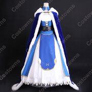 アルトリア・ペンドラゴン 青 マント コスプレ衣装 『Fate/stay night』騎士マントフード付き 柔らかい ふわふわ 保暖防寒 仮装 ステージ衣装 コスチューム