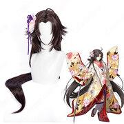 Fate/Grand Order 両儀式 コスプレ 高品質耐熱 ウィッグ『空の境界』りょうぎ しき 英霊 三破 かつら ウィッグネット付 変装用 専用