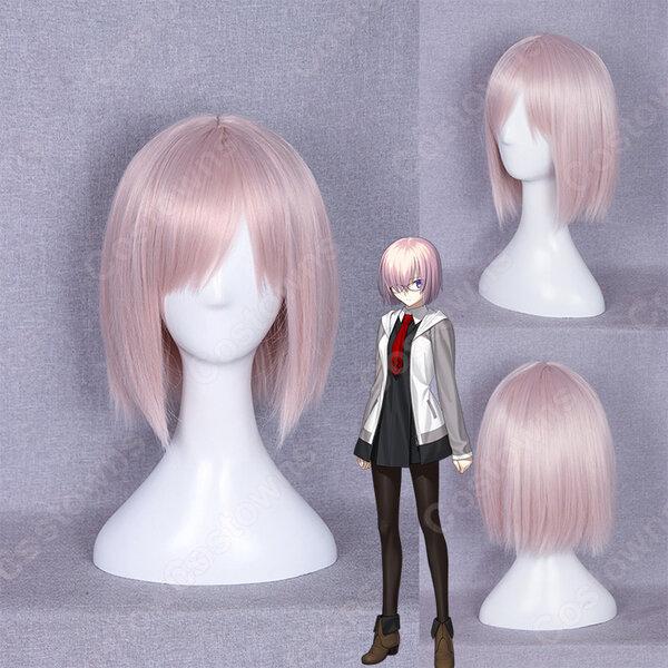 『Fate/Grand Order』マシュ・キリエライト コスプレ 高品質耐熱 ウィッグ フェイト・グランドオーダーかつら ウィッグネット付 変装用 専用元の画像
