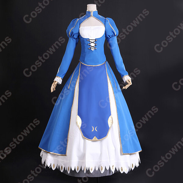 アルトリア・ペンドラゴン コスプレ衣装 『Fate/stay night』セイバー 青 開戦服 仮装コスチューム元の画像