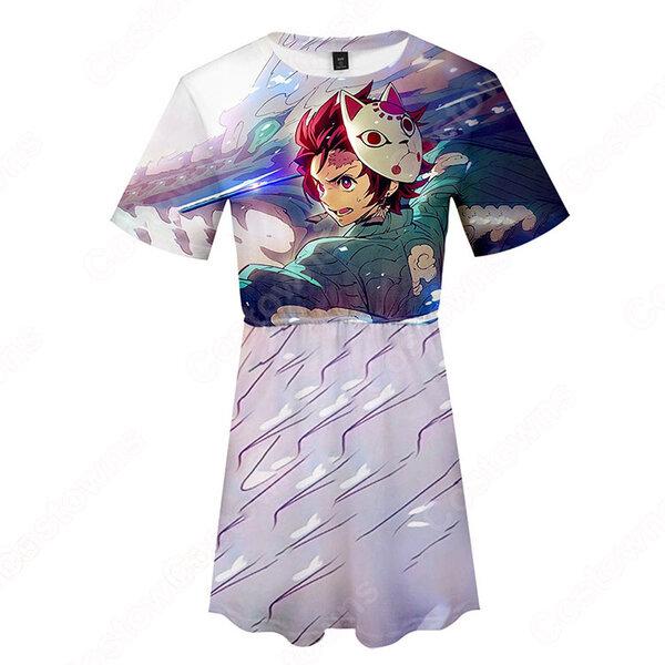 鬼滅の刃 半袖 ワンピース 薄手 春夏 レディース ファッション プレゼント元の画像