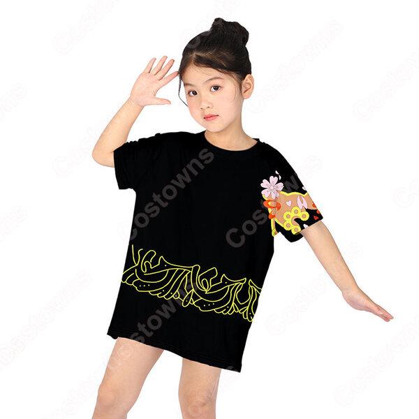 鬼滅の刃 Tシャツ 女の子 ドレス 子供服 キッズ 半袖 夏服 普段着 超かわいい 誕生日 プレゼント 鬼滅の刃 グッズ元の画像