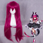 『Fate/Grand Order』 エリザベート·バートリー コスプレ 高品質耐熱 赤紫色 ウィッグ フェイト・グランドオーダーかつら ウィッグネット付 変装用 専用