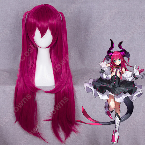 『Fate/Grand Order』 エリザベート·バートリー コスプレ 高品質耐熱 赤紫色 ウィッグ フェイト・グランドオーダーかつら ウィッグネット付 変装用 専用元の画像