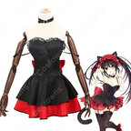 時崎狂三(ときさきくるみ) コスプレ衣装 『デート・ア・ライブ』黒猫 フィギュア服 ブラック セクシー 可愛い コスプレ用衣装