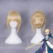 アルトリア・ペンドラゴン Saber コスプレ 高品質耐熱 ウィッグ『Fate/Grand Order』かつら ウィッグネット付 変装用
