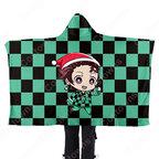 『鬼滅の刃』ブランケット フード付き 肩掛け 着る毛布 アニメグッズ パジャマ 毛布クリスマス かわいい ふわふわ ショール マント