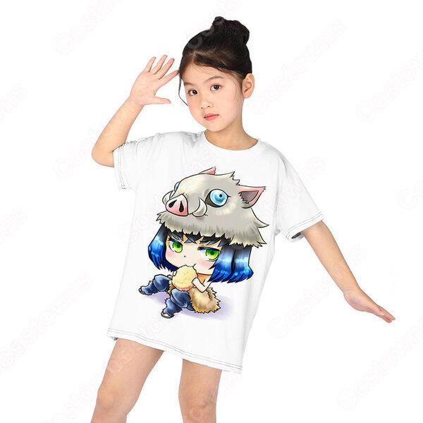『鬼滅の刃』Tシャツ アニメ プリント 半袖 かわいい 柔らかい uネック 記念シャツ 女の子 Tシャツ 子供服元の画像
