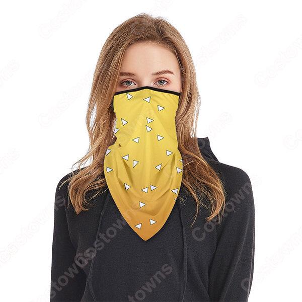 鬼滅の刃 グッズ フェイスマスク ネックウォーマー ネックガード バラクラバマスク 通気 速乾 紫外線 対策 多機能目出し帽 通勤 通学 釣り 登山 おすすめ元の画像