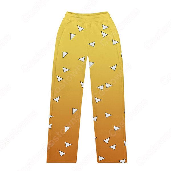 『鬼滅の刃』グッズ ズボン シンプル カジュアル 子供 ストレートパンツ アニメ 3Dプリント キッズ ズボン ゆったり ワイドパンツ おしゃれ イベント 衣装 男女兼用元の画像