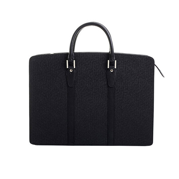 Whatna ビジネスバッグ メンズ 2wayショルダー 手提げ 厚手 皮革 大容量 ブリーフケース A4 15.6インチPC対応 旅行 出張 通勤 通学 就活 面接 バッグ かばん 男性用 黒(7807)元の画像