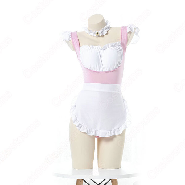 メイド服 コスプレ 胸キュン セクシー メイド風 ランジェリー ピンク 情趣下着 ボディコン バレンタインギフト キャバレー 可愛い 萌え 仮装 コスチューム元の画像