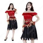 ハロウィン 吸血鬼 コスチューム ゴーストブライド 魔女 コスプレ 衣装 レディース 大人用 女性用 変装 仮装