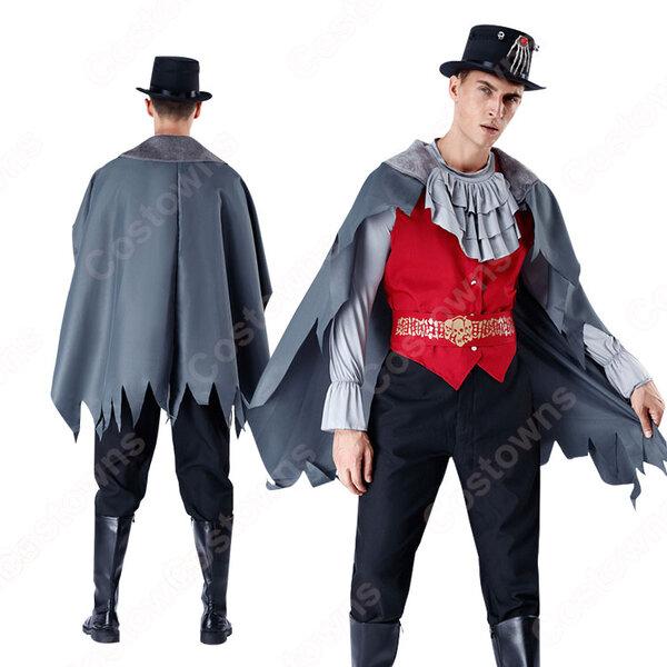 ハロウィン 吸血鬼 コスチューム マント 貴族 伯爵 仮装 男性用 大人用 コスプレ 衣装元の画像