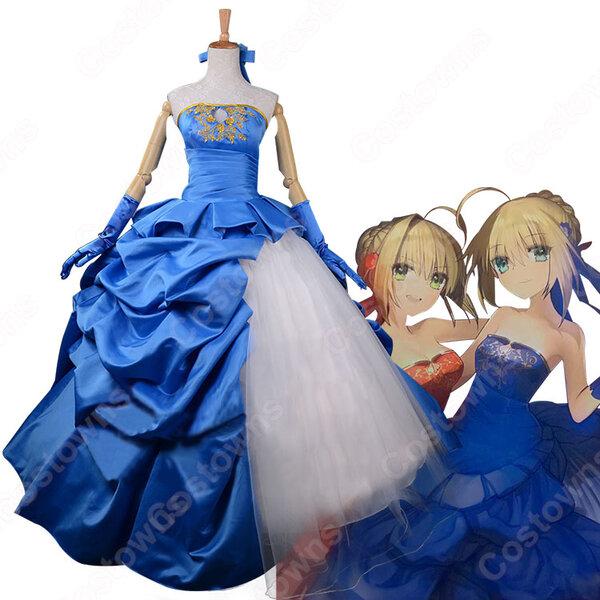 Fate/Grand Order アルトリア・ペンドラゴン 10周年記念 ドレス コスプレ衣装 Saber (セイバー) コスチューム オーダメイド可元の画像