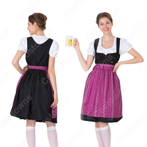 オクトーバーフェスト メイド服 ビールガール コスプレ 衣装 ハロウィン イベント コスチューム 民族衣装元の画像