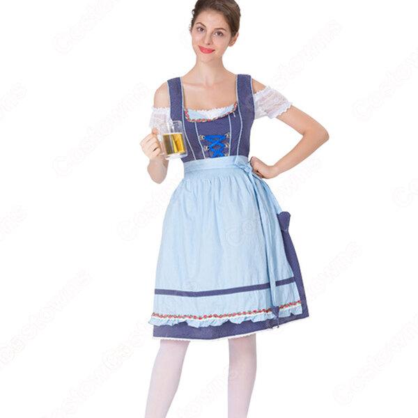 ビール祭り メイド コスプレ コスチューム ドイツの民族衣装 ビールガール制服 パーティー 文化祭 学園祭 コスプレ変装元の画像