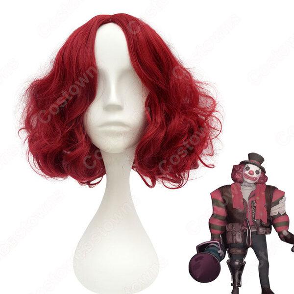 アイデンティティV 道化師 ジョーカー(ピエロ) 耐熱 ウィッグ【IdentityV 第五人格】 cosplay 初期衣装 スキン カーリーヘア コスプレ用ウィッグ 赤 wig元の画像