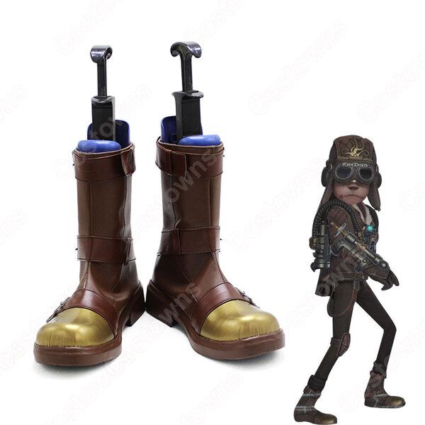 傭兵(ナワーブ・サベダー) 蒸気少年 コスプレ靴 ブーツ アイデンティティV【IdentityV 第五人格】サバイバー スキン 靴 道具 ハロウィーンやアニメの展示会に適元の画像