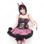 AKB48 NMB48 山本彩(やまもと さやか) わるきー 小悪魔キャラ 豹柄 豪華 打歌服 コスプレ衣装 アイドル衣装 ステージ服 舞台 ハロウィン クリスマス