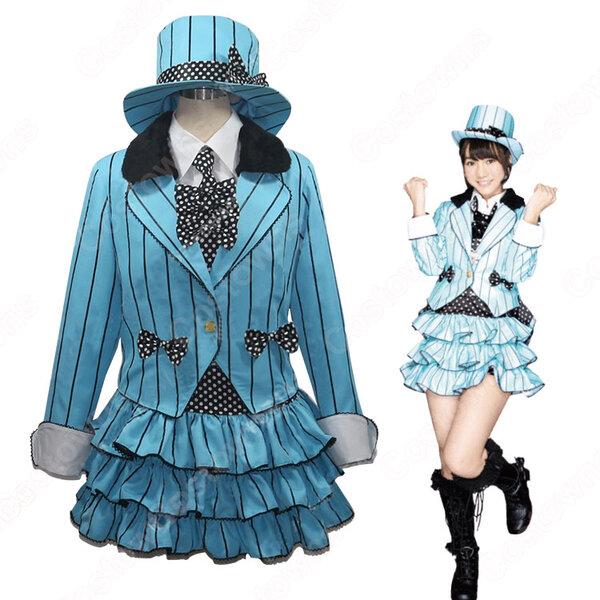 AKB48 君のC/W 高城亜樹 風 コスプレ衣装 アイドル ダンス服 PV コス服 たかじょう あき アイドル制服 スチューム 変身・仮装衣装 オーダメイド可元の画像