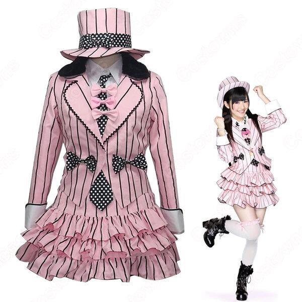 AKB48 君のC/W 渡辺麻友 コスプレ衣装 アイドル ダンス服 PV コス服 たかじょう あき アイドル制服 スチューム 変身・仮装衣装 オーダメイド可元の画像
