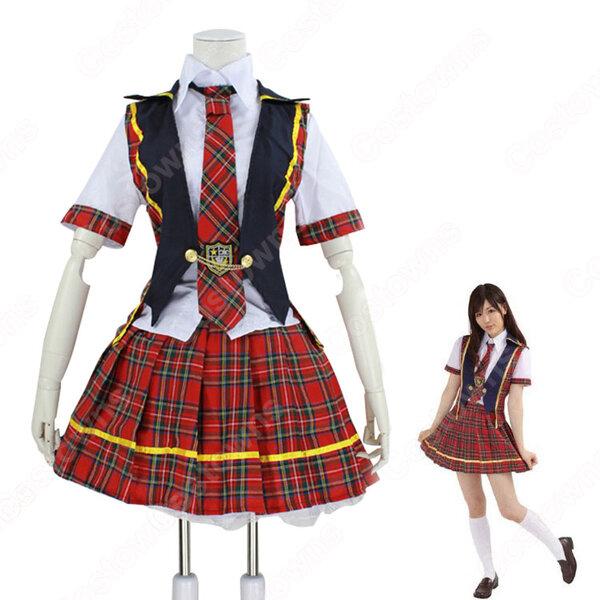 AKB48 13thシングル 言い訳Maybe コスプレ衣装 いいわけメイビー MVダンス服 アイドル制服元の画像