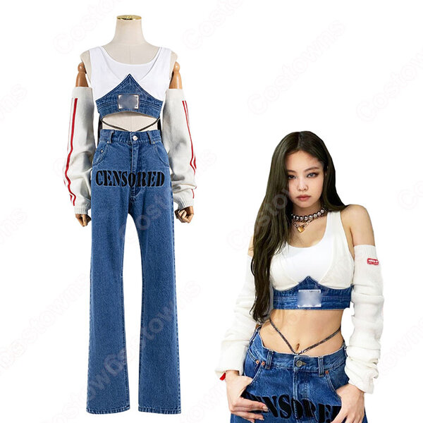 BLACKPINK ジェニー( 제니、 JENNIE)風 ジャズダンス 衣装 コスプレ 衣装 人気グループ アイドル制服 ステージ服元の画像