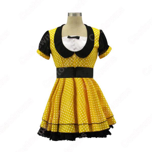 AKB48 スコスプレ衣装 黒・黄 ワンピー アイドル ダンス服 MV衣装 オーダメイド可元の画像