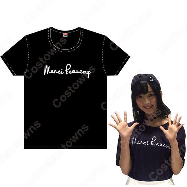 欅坂46(けやきざか46) 平手友梨奈 / 渡邉理佐 / リサ 風 Tシャツ アイドル 衣装 私服元の画像