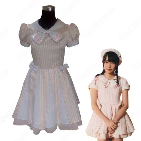 HKT48 初恋バタフライ(はつこいバタフライ) コスプレ衣装 ワンピース MV制服 アイドル ダンス服 オーダメイド可元の画像