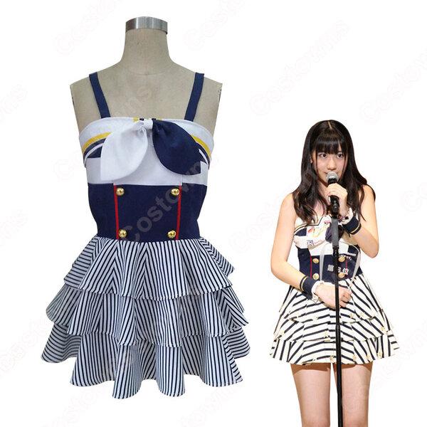 AKB48 「Everyday、カチューシャ」(エブリデイ カチューシャ、Everyday, Kachuusha)柏木由紀 コスプレ衣装 東雲彼方(AKB0048) コスチューム オーダメイド可元の画像