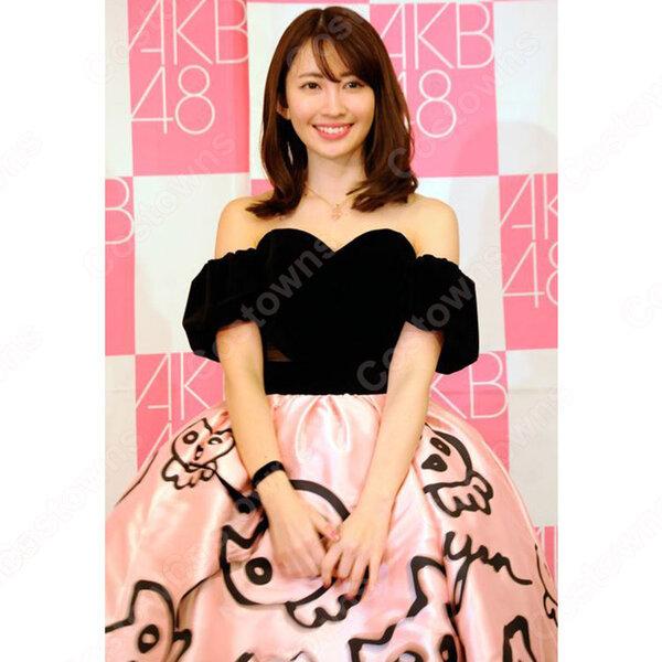 AKB48小嶋陽菜の卒業コンサート「こじまつり~小嶋陽菜感謝祭~」小嶋陽菜風 コスプレ衣装 パーティードレス オーダメイド可元の画像