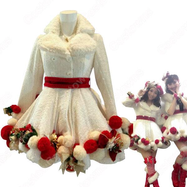 NHK BSプレミアム 『AKB48 SHOW』 「予約したクリスマス」ステージ服 ダンス服 AKB48 コスプレ衣装 オーダメイド可元の画像