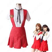 Apink(エーピンク)風 コスプレ衣装 2点セット(ストラップドレス、シャツ)