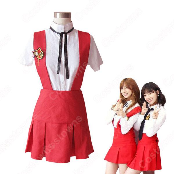 Apink(エーピンク)風 コスプレ衣装 2点セット(ストラップドレス、シャツ)元の画像