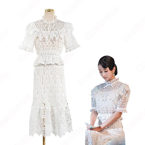 『サイコだけど大丈夫』(It's Okay to Not Be Okay.) 衣装 コ・ムニョン(ソ・イェジ / 서예지 )風 透け感が 可愛い ドレス元の画像