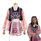 BLACKPINK(ブラックピンク) ジェニー( 제니 / JENNIE)風 衣装 ピンク 柄プリント 4点セット(ベスト / カーディガン / スカート / ショーツ)